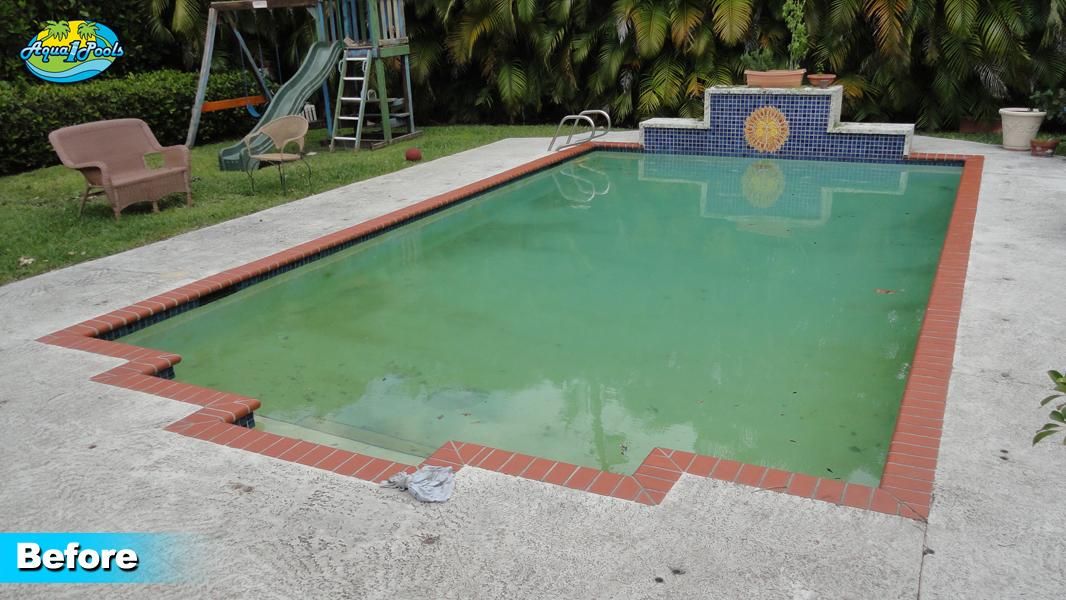 Swimming pool renovation miami pool remodeling aqua 1 for Swimming pool remodel