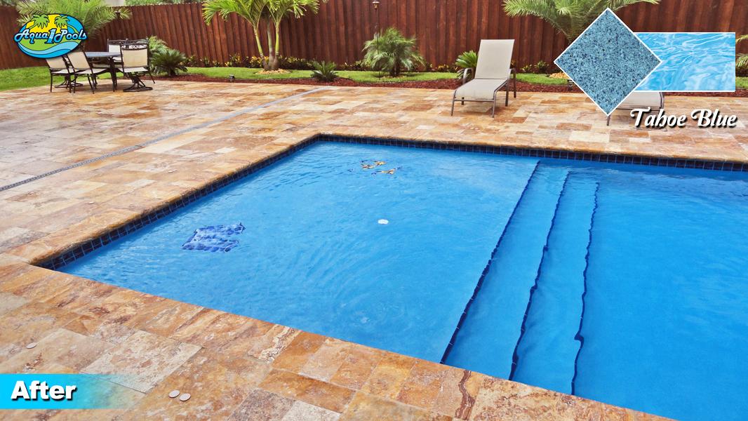 Pool resurfacing miami pool plastering experts aqua 1 - How soon can you swim after plastering pool ...